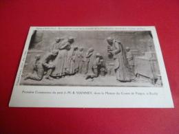 01  ARS Eglise Bas Relief Ouevre De Castex Communion De Vianney à Ecully..non Circulee .edit Villand  Vernu .Ain - Ars-sur-Formans