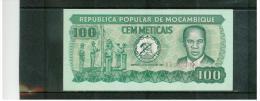 MOCAMBIQUE , MOZAMBIQUE , 100  Meticas   ,   Pick#126 - Mozambique
