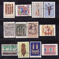 Grecia 1966- Arte Popolare- Serie Completa Usata - Usati