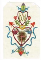 IMAGE RELIGIEUSE Collage Papier Coloré, 14,9 X 9,2 Cm - Devotieprenten