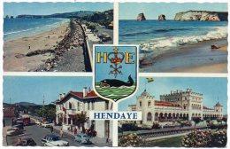 CP, 64, Souvenir D'HENDAYE, écrite, Voyagé En 1962, Ed : Cie Des Arts Photomécaniques - Hendaye