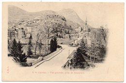 CP, 65, LOURDES,  Vue Générale Prise Du Boulevard, Vierge, Dos Simple - Lourdes