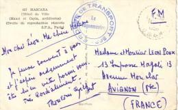 ALGERIE - GROUPE DE TRANSPORT 363 - CARTE POSTALE DE MASCARA EN 1956 - CARTE MASCARA HOTEL DE VILLE. - Poststempel (Briefe)
