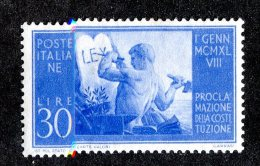 3682x)  Italy 1948 - Sc# 494 ~ M* - 4. 1944-45 Social Republic