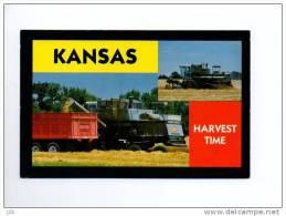 USA 01 - Etats Unis - Kansas Harvest Time - Moissonneuse Batteuse Tracteur Agriculture - Etats-Unis
