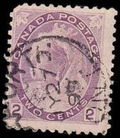 Canada Scott #  76, 2¢ Purple (1898) Queen Victoria, Used - 1851-1902 Règne De Victoria
