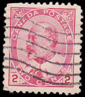 Canada Scott #  90, 2¢ Carmine (1903) King Edward VII, Used - 1903-1908 Règne De Edward VII