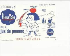 Buvard  Neuf   (  Fleurjoie Delicieux Et Pur Jus De Pomme (Sans Alcool 100% Naturel - Food