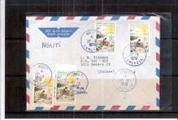 Lettre Du Cameroun Vers La Suisse - Opération Sahel Vert (à Voir) - Cameroun (1960-...)