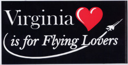 Autocollant - Virginia Is For Flying Lovers - Aufkleber