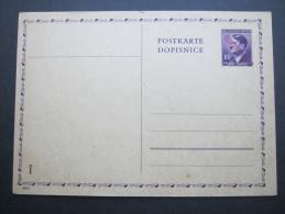 BÖHMEN & MAHREN, Ganzsache Mit Aufdruck Cechoslovensko - Occupation 1938-45