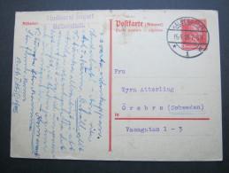 1928, 15 Pfg. Kant, Antwortteil Nach Schweden Aus Halberstadt - Deutschland