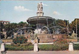 Cp , 13 , AIX-EN-PROVENCE , Place De La Libération , La Grande Fontaine (1860) - Aix En Provence