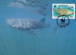 WWF - 105,34 - CM-MC - € 1,19 - 17-1-1991 - 35c - Whale Shark And Manta Ray - Kiribati 1108212 - Kiribati (1979-...)