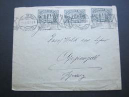 1923, Mehrfachfrankatur Auf Brief Aus Ulm In Die Schweiz - Germany