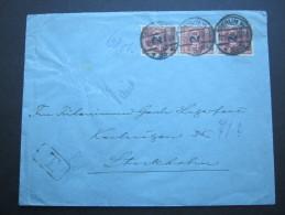 1923, Mehrfachfrankatur Auf Brief Nach Schweden - Germany