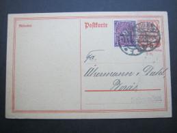 1922, Firmenlochung Auf Auslandskarte Nach Schweden, Rs. Mit Textzudruck - Germany