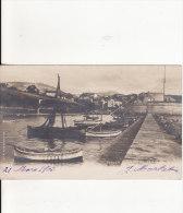 Carte Postale Photo De TOULON  Le Port Saint-Jean -BATEAU-VOILIER-NAVIGATION - 2 SCANS - - Toulon