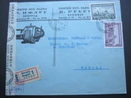 SERBIEN, Seltener Bedarfsbrief Als Einschreiben Mit Zensur - Occupation 1938-45