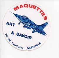REF 5  : Autocollant Sticker 1970/1980 ART & SAVOIR Aviation Maquettes Grenoble - Autocollants