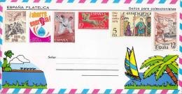 SPANIEN 1977-81, 6 Fache Sondermarken Frankierung ** Auf Schmuckbrief - 1931-Heute: 2. Rep. - ... Juan Carlos I