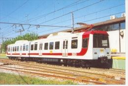7f-440. Postal U.T. 3803. El Berrón. Asturias - Trains
