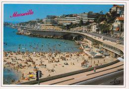 Cp , 13 , MARSEILLE , Promenade De La Corniche , Plage Du Prophète - Endoume, Roucas, Corniche, Plages
