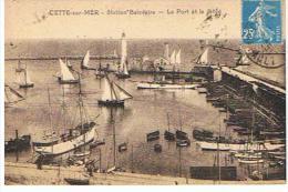 CPA 34 *CETTE SUR MER *  Station Balnéaire Le Port Et La Jetée - Frankrijk