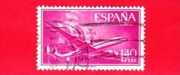 SPAGNA - USATO - 1955 - Super Costellazione E Nave - Posta Aerea - 1.40 - Usati