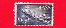 SPAGNA - USATO - 1955 - Super Costellazione E Nave - Posta Aerea - 25 - Usati