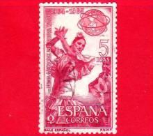 SPAGNA - USATO - 1964 -  Esposizione Mondiale Di New York - Ballo - Baile Español - 5 - 1931-Heute: 2. Rep. - ... Juan Carlos I