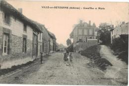 Carte Postale Ancienne De  VILLE SUR RETOURNE - Other Municipalities