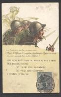 5745-CARTOLINA PRESTITO NAZIONALE AFFRANC. CON 15 C. COMM. ANNIV. VITTORIA - 1900-44 Victor Emmanuel III