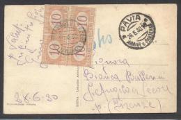 5746-CARTOLINA ILLUSTRATA TASSATA IN ARRIVO CON QUARTINA SEGNATASSE 10 C.-29-06-1930 - 1900-44 Victor Emmanuel III