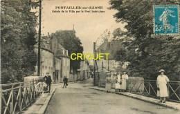 Cpa 21 Pontailler, Entrée De La Ville Par Le Pont St Jean - France