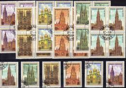 Kathedrale Der Welt 1994 Madagaskar 1688-93+4-Block O 13€ Köln Paris Antwerpen Toledo Moskau Church M/s Bloc Bf Malagasy - Madagaskar (1960-...)
