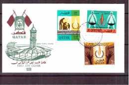 Qatar 1968 = Human Rights    2 Covers - Qatar
