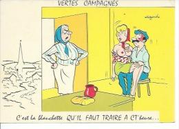 VERTES CAMPAGNES - C'EST LA BLANCHETTE QU'IL FAUT TRAIRE A CT' HEURE... - ALEXANDRE - NUE NUS NU - Alexandre