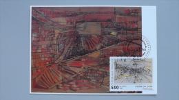 Frankreich 2999 MaximumCard MK/MC, ESST Paris, Gehöhter Stich Von Maria-Elena Vieira Da Silva (1908-1992), Malerin - 1990-99