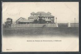 CPA DJIBOUTI - Djibouti, Entrée Du Palais Du Gouverneur - Gibuti