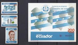 ECUADOR 1989 - Yvert #1177/79+H86 - MNH ** - Ecuador