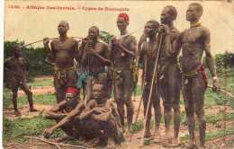 Afrique Occidentale: Types De Koniaguis, Etuis Péniens, Collection Fortier N°1450, Non Voyagée, Vendue En L´état. - Afrique Du Sud, Est, Ouest