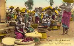 Afrique Occidentale: Un Marché Indigène, Seins Nus, Collection Fortier N°1536, Voyagée, Vendue En L´état. - Afrique Du Sud, Est, Ouest