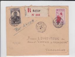 MADAGASCAR - 1946 - ENVELOPPE RECOMMANDEE De EJEDA Pour TANANARIVE - Madagascar (1889-1960)