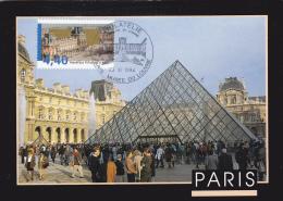 Carte Maximum FRANCE N° Yvert  2852 (LOUVRE) Obl Sp Ill (Ed Image'In) - 1990-99