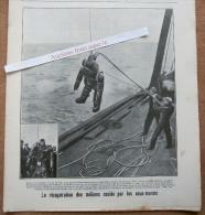 """Magazine Avec Article """"Scaphandrier (couverture), Incendie Nivelles (4 Photos)"""" 1920 - Vieux Papiers"""