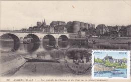 Carte Maximum FRANCE N° Yvert  4543 (Château D´ANGERS) Obl Sp Ill Château Sur Carte Ancienne RRR - Cartoline Maximum