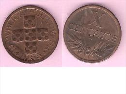 *portugal 10 Centavos  1955  Km 583  Vf+ - Portugal