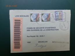IT 1088  LETTRE RECOMM.  TO BELGIO - 1946-.. Republiek
