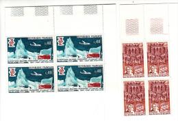 2 Blocs De 4 - Expéditions Polaires Françaises - Les Petits Lits Blancs - 1968 - YT N° 1574 Et 1575 - Nuovi
